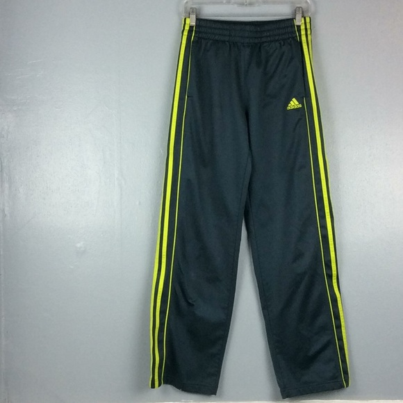 Adidas Youth Athletic Track Gray Poly Pants Sz XL